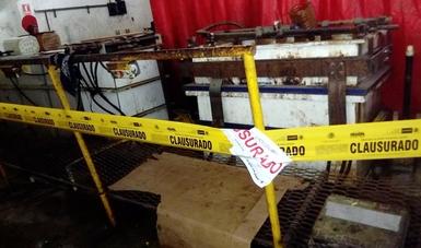 PROFEPA clausura empresa en Escobedo, Nuevo León, por mal manejo de residuos peligrosos y contaminantes